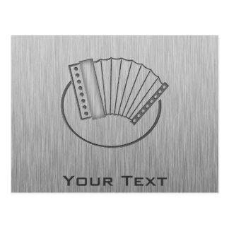 Brushed metal-look Accordion Postcard