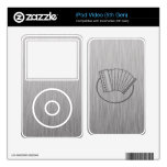 Brushed metal-look Accordion Decals For The iPod Video