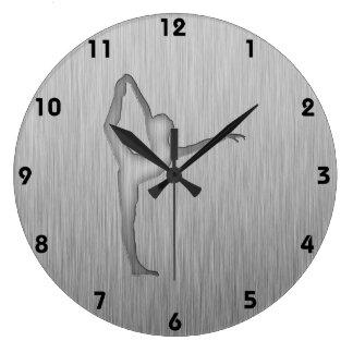 Brushed Metal-look Ballet Large Clock