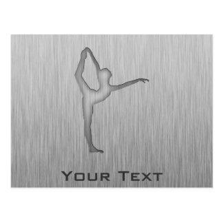 Brushed Metal-look Ballet Postcard