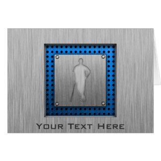 Brushed metal-look Baseball Greeting Card
