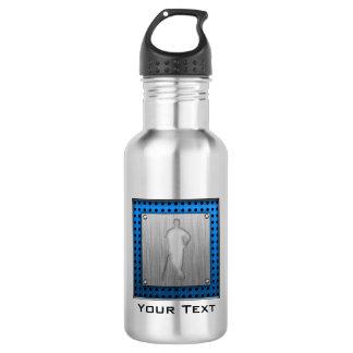 Brushed metal-look Baseball Stainless Steel Water Bottle