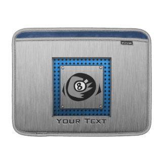Brushed Metal look Blue 8 ball MacBook Air Sleeves