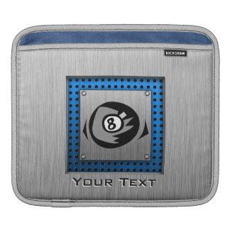 Brushed Metal look Blue 8 ball iPad Sleeve
