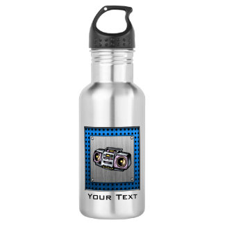 Brushed Metal-look Boombox 18oz Water Bottle