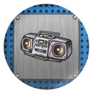 Brushed Metal-look Boombox Plates