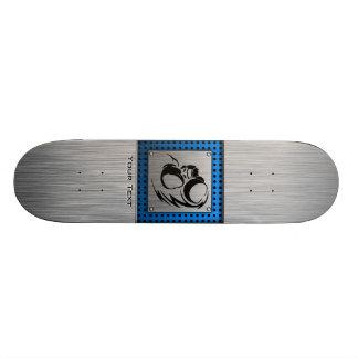 Brushed metal look Boxer Skateboard