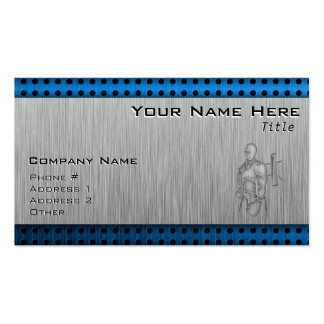 Brushed Metal-look Boxing Double-Sided Standard Business Cards (Pack Of 100)