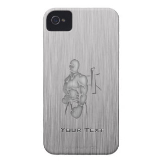 Brushed Metal-look Boxing iPhone 4 Cover