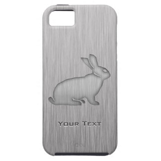 Brushed Metal look Bunny iPhone SE/5/5s Case