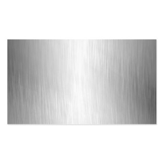 Brushed Metal Look Business Cards