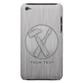 Brushed Metal-look Carpenter Tools Barely There iPod Cover