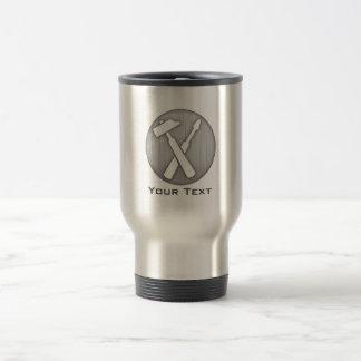 Brushed Metal-look Carpenter Tools Travel Mug