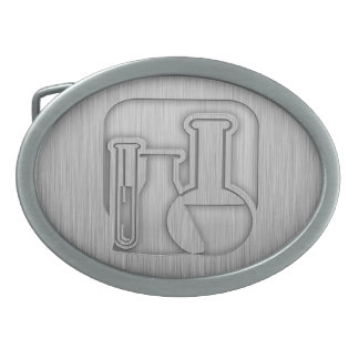 Brushed Metal-look Chemistry Belt Buckle