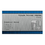 Brushed Metal-look Chemistry Business Card