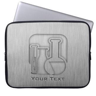 Brushed Metal-look Chemistry Laptop Sleeve