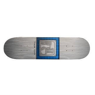 Brushed Metal-look Chemistry Custom Skate Board