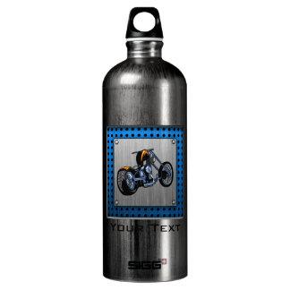Brushed Metal-look Chopper Aluminum Water Bottle