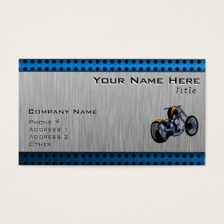 Brushed Metal-look Chopper Business Card