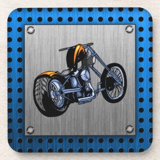 Brushed Metal-look Chopper Coaster