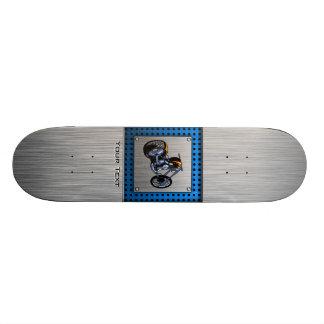 Brushed Metal-look Chopper Skateboard Deck