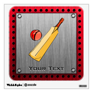 Brushed metal look Cricket Wall Sticker