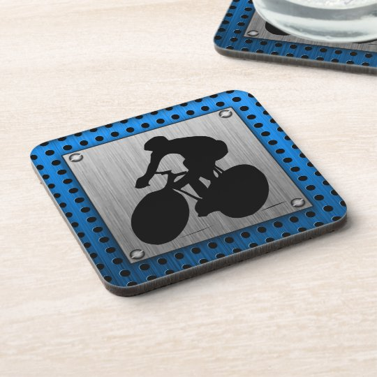 Brushed metal look Cycling Coaster