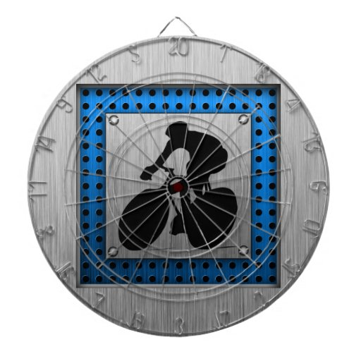 Brushed metal look Cycling Dart Boards