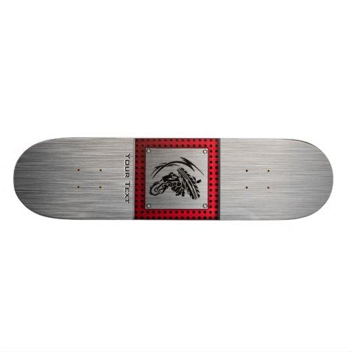 Brushed metal look Dirt Bike Skate Board Decks