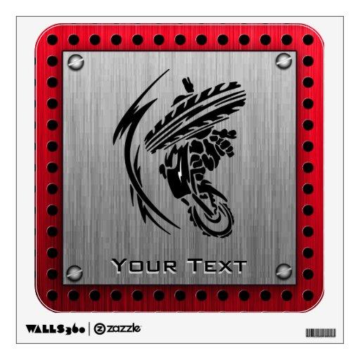 brushed metal look dirt bike wall sticker zazzle dirt bike wall decal motor cross decal motorcycle decal