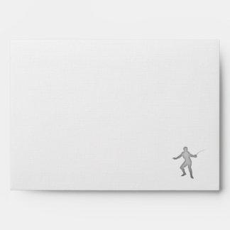 Brushed Metal-look Fencing Envelopes