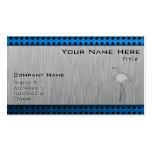 Brushed metal-look Flamingo Business Card