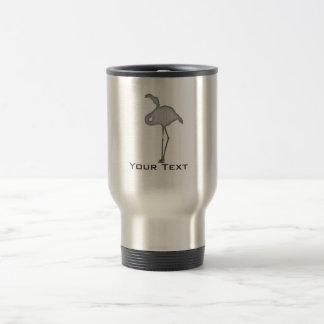 Brushed metal-look Flamingo Travel Mug