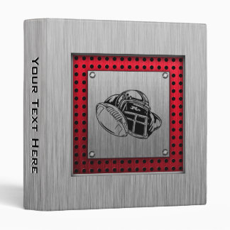 Brushed metal look Football 3 Ring Binder