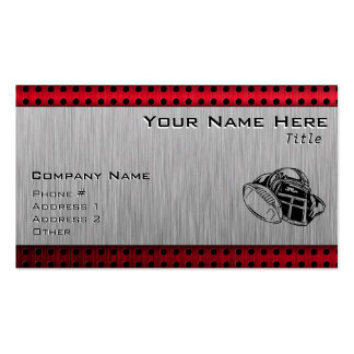 Brushed metal look Football Double-Sided Standard Business Cards (Pack Of 100)