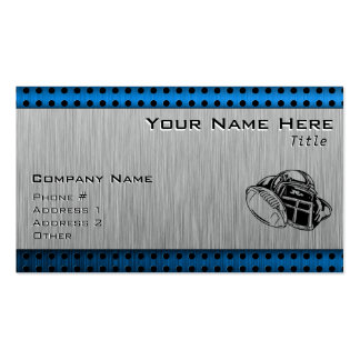 Brushed metal look Football Player Double-Sided Standard Business Cards (Pack Of 100)