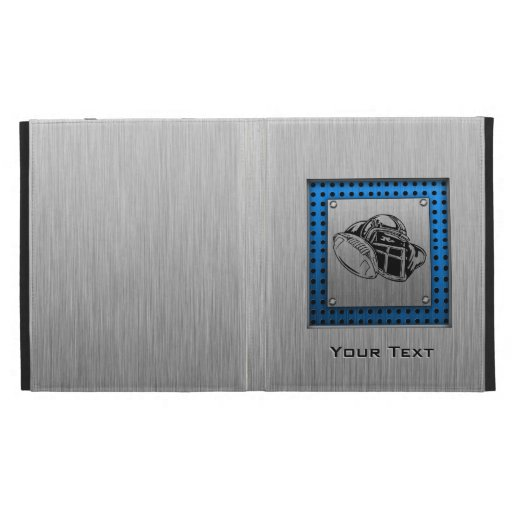 Brushed metal look Football Player iPad Cases