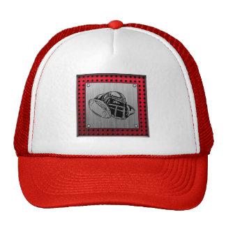 Brushed metal look Football Trucker Hat