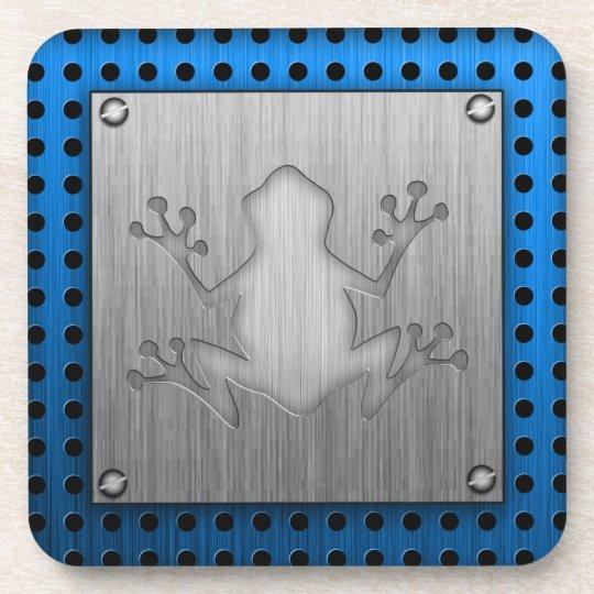 Brushed Metal look Frog Coaster