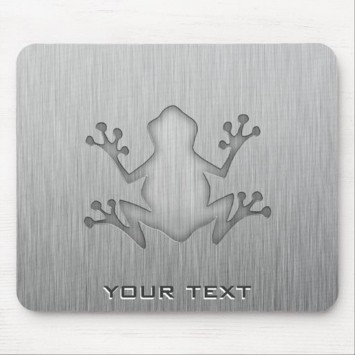 Brushed Metal look Frog Mouse Pad
