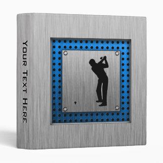Brushed metal look Golf Binder