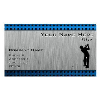 Brushed metal look Golf Business Cards