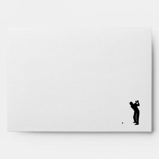 Brushed metal look Golf Envelopes