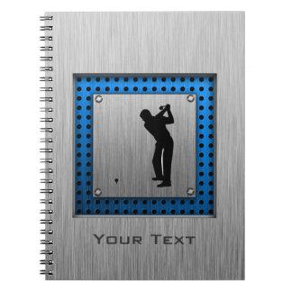 Brushed metal look Golf Notebook