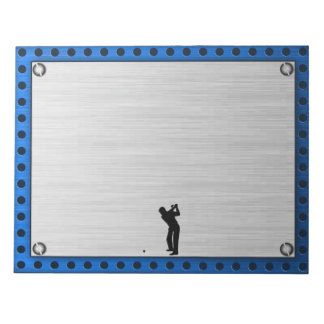 Brushed metal look Golf Notepad