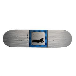 Brushed metal look Golf Skate Board Deck