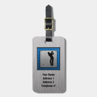 Brushed metal look Golf Tag For Luggage