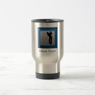 Brushed metal look Golf Travel Mug