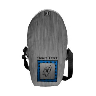 Brushed metal look Hang Glider Courier Bag