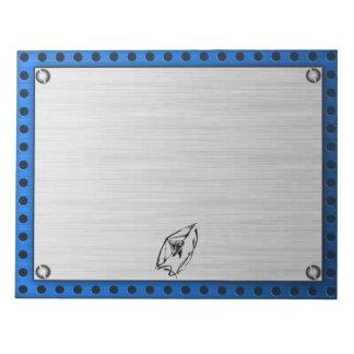 Brushed metal look Hang Glider Notepad
